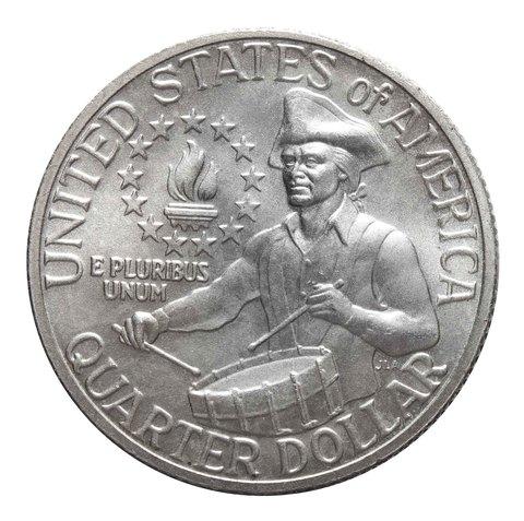 "1/4  доллара 1976 (S). США AU ""200-летие Декларации независимости"""