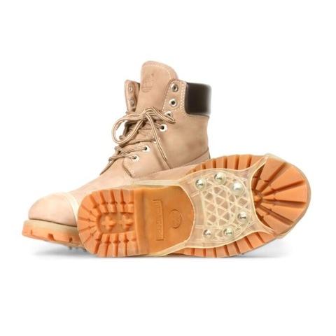 Ледоходы на обувь для светлой обуви против скольжения 6 шипов Размер 35-45 Серые