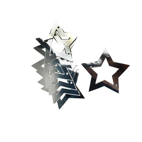 Гирлянда-подвеска Звезды Серебро Глянец