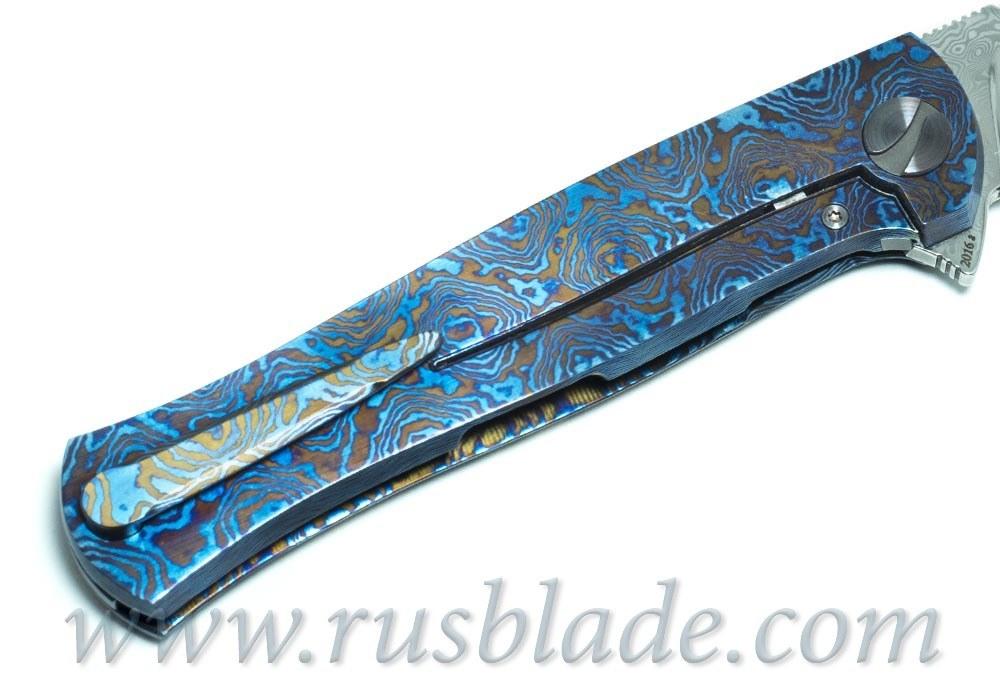 Cheburkov Pike Mammoth Damascus Custom one-off Knife
