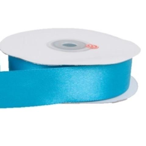 Лента атласная (размер 25 мм х 30 м) Цвет: бирюзовая