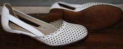 Белые туфли на низком каблуке Evromoda 101-6 White.