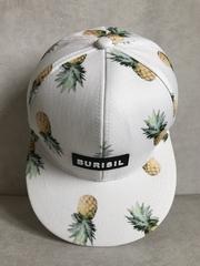 кепка бейсболка белая ананасы принт