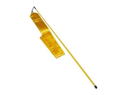 Лента гимнастическая. Цвет жёлтый: АВ228