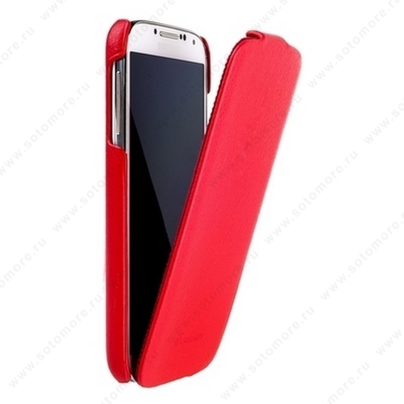 Чехол-флип Fashion для Samsung Galaxy S4 i9500/ i9505 с откидным верхом красный