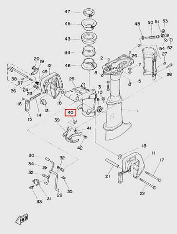 Пружина для лодочного мотора T5 Sea-PRO (10-40)