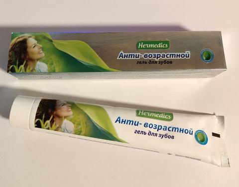 Аюрведическая гелевая зубная паста Anti-Ageing (антивозрастная), 100 г. Hermedics (Индия)
