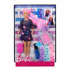 Barbie Цветной сюрприз с розовыми волосами