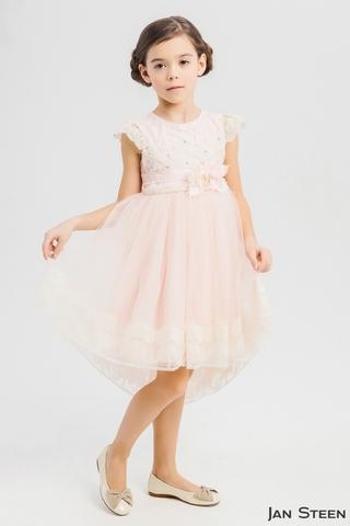 Нежно-розовое платье со шлейфом (WB1783)