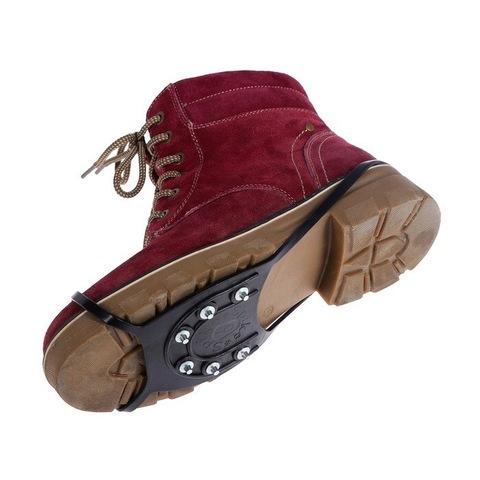 Накладки на обувь против скольжения Ледоступы 6 шипов Размер 38-52 Чёрные