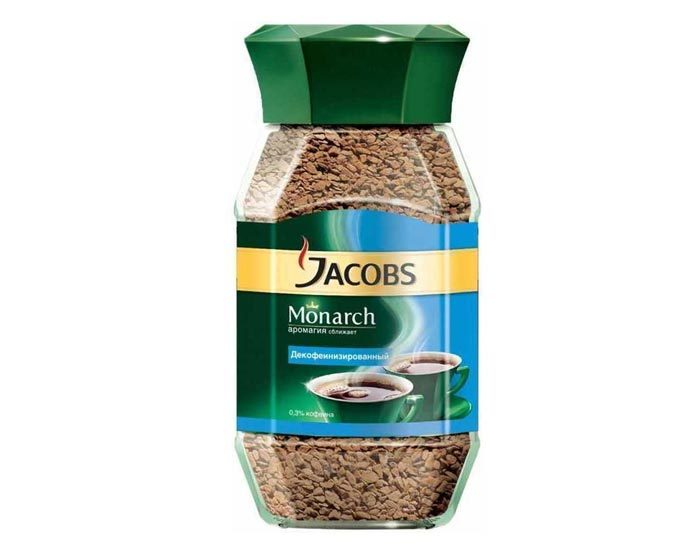 Jacobs Monarch Decaf без кофеина, 95 г