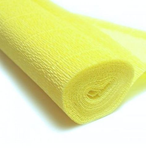 Бумага гофрированная, цвет 574 желтый, 180г, 50х250 см, Cartotecnica Rossi (Италия)
