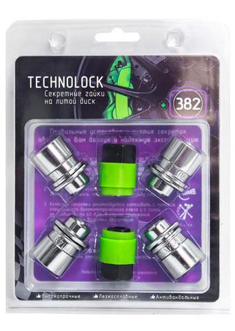Готовый набор из колёсных гаек М14x1.5 и комплекта секреткок TECHNOLOCK 382