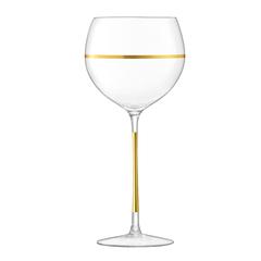 Набор из 8 бокалов для вина с золотым декором Deco 525 мл, фото 2