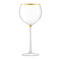 Набор из 8 бокалов для вина с золотым декором Deco 525 мл, фото 3