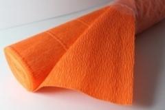 Бумага гофрированная оранжевая (581)