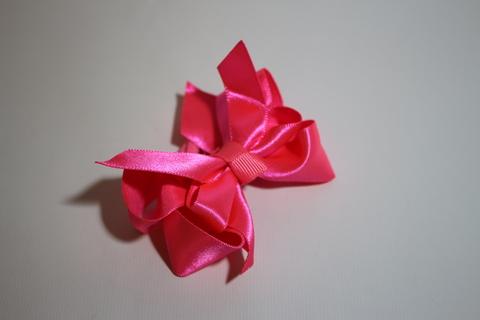 Бант атласный ярко-розовый (арт.1005 мал)