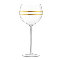 Набор из 8 бокалов для вина с золотым декором Deco 525 мл, фото 4