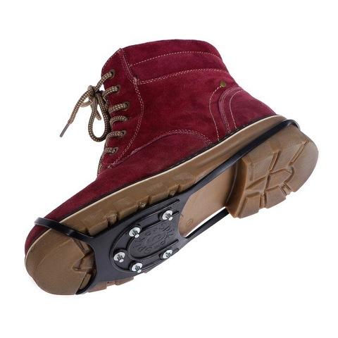 Накладки на обувь при гололеде Ледоходы 5 шипов Размер 38-52 Чёрные