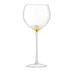 Набор из 8 бокалов для вина с золотым декором Deco 525 мл, фото 5