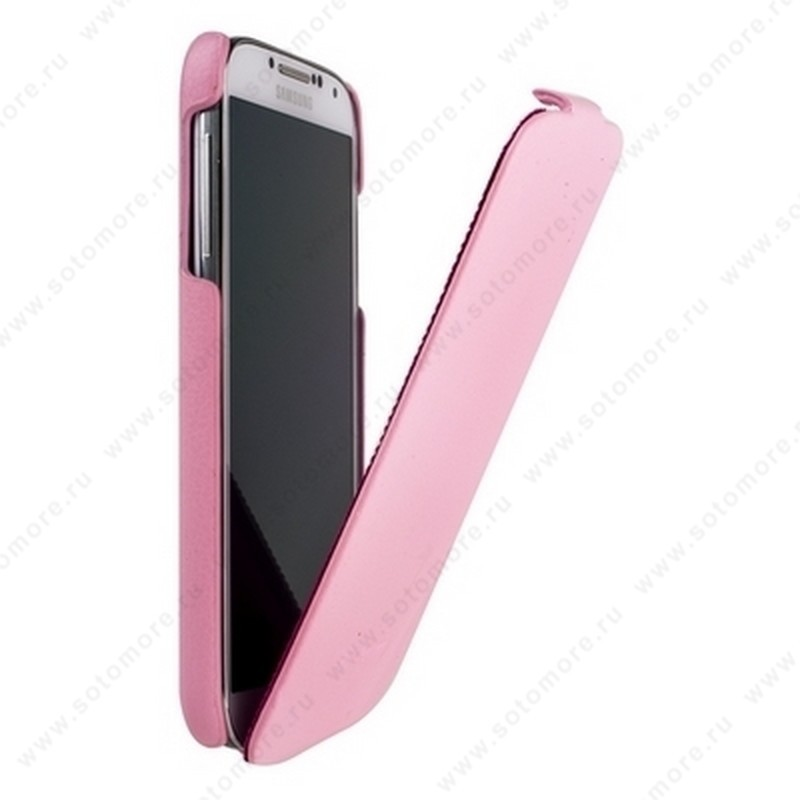 Чехол-флип Fashion для Samsung Galaxy S4 i9500/ i9505 с откидным верхом розовый