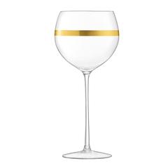 Набор из 8 бокалов для вина с золотым декором Deco 525 мл, фото 6
