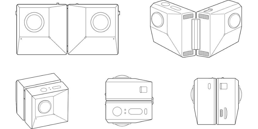 Камера панорамная Insta360 EVO 3D/2D Convertible 360/180° VR Camera схема