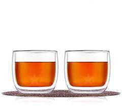 Стаканы с двойным дном и стенками TeaStar для кофе и чая стеклянные объемом 300 мл, набор из 2 штук