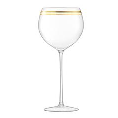Набор из 8 бокалов для вина с золотым декором Deco 525 мл, фото 7