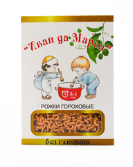 Макароны Рожки гороховые, безглютеновые 400 гр. (Калипсо)