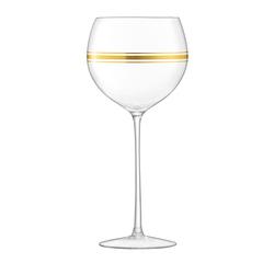Набор из 8 бокалов для вина с золотым декором Deco 525 мл, фото 8
