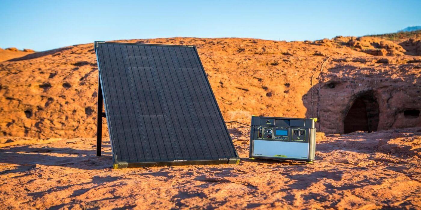 Солнечная панель Goal Zero Boulder 100 пример использования
