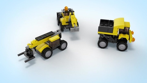 LEGO Creator: Строительная техника 31041 — Construction Vehicles — Лего Креатор Создатель