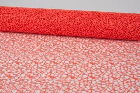 Сетка Ажурная (размер:50 см х 5 ярд) Цвет:темно-оранжевый