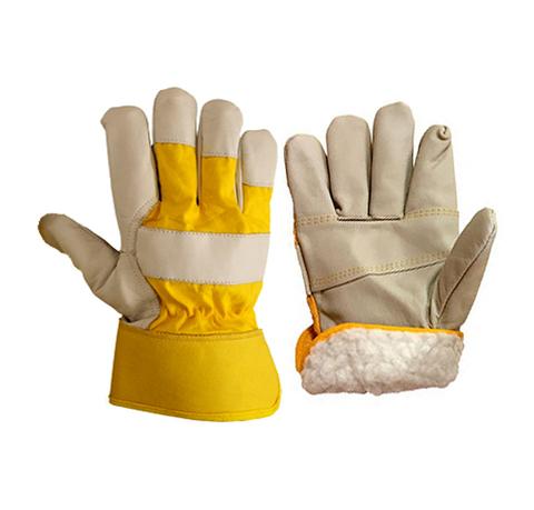 Утепленные кожаные перчатки ЮКОН