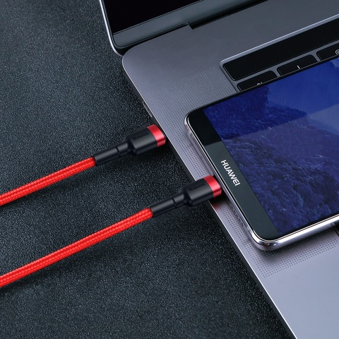 Кабель Baseus Cafule Series Type-C PD2.0 60W Flash charge Cable(20V 3A) 2M Red