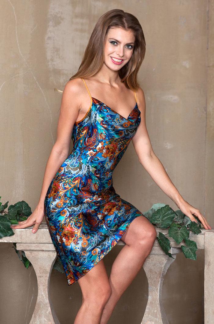 шелк натуральный Сорочка  женская MIA-MIA  Yesenia ЕСЕНИЯ  15138 15138_big.jpg