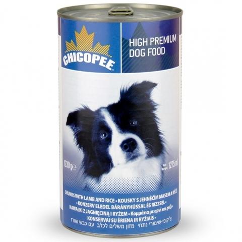 Chicopee Dog Chunks Lamb Rice консервы для собак всех пород и возрастов с кусочками ягненка и рисом в соусе 1,23 кг