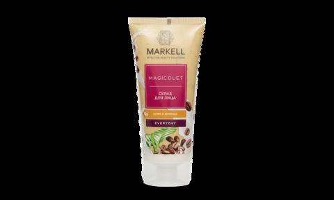 Markell Magic Duet Скраб для лица Кофе молоко New 100мл
