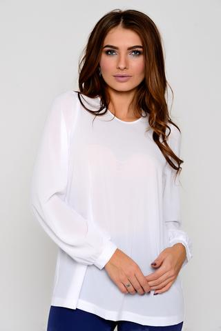 <p>Утонченная, очаровательная блузка свободного кроя. Пышный рукав на резинке. (Длины: 44-69см; 46-70см; 48-71см; 50-72см; 52-73см)</p>