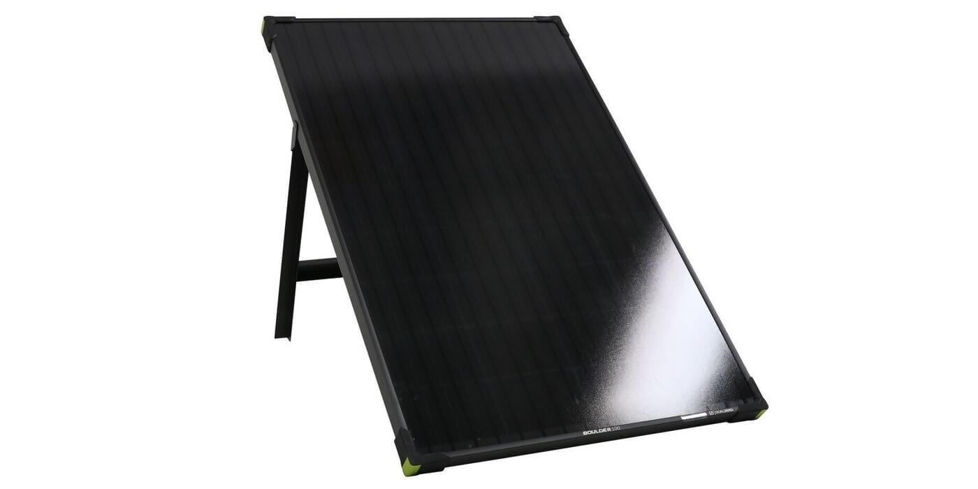 Солнечная панель Goal Zero Boulder 100 вид сбоку