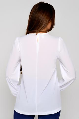 Утонченная, очаровательная блузка свободного кроя. Пышный рукав на резинке. (Длины: 44-69см; 46-70см; 48-71см; 50-72см; 52-73см)