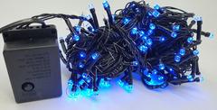Светодиодная гирлянда домашняя нить 10м 100LED синий