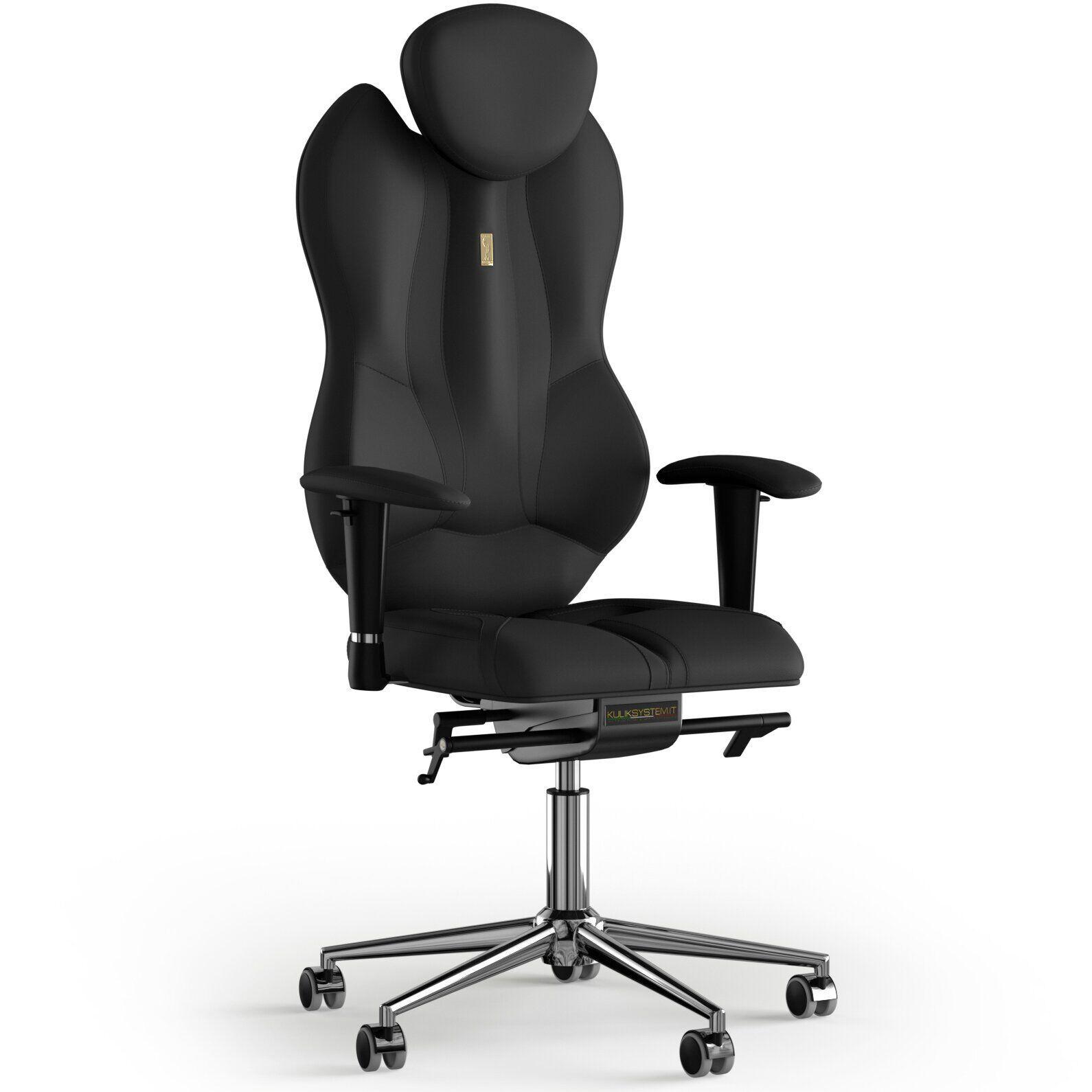 Кресло KULIK SYSTEM GRAND Экокожа с подголовником без строчки