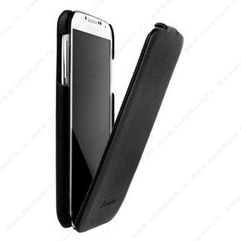 Чехол-флип Fashion для Samsung Galaxy S4 i9500/ i9505 с откидным верхом черный
