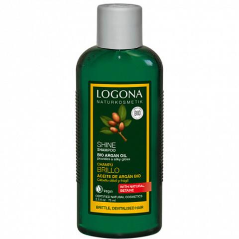 LOGONA, Шампунь для восстановления блеска волос с Био-Аргановым маслом, 250мл