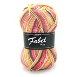 Пряжа Drops Fabel 903 желто-розовый