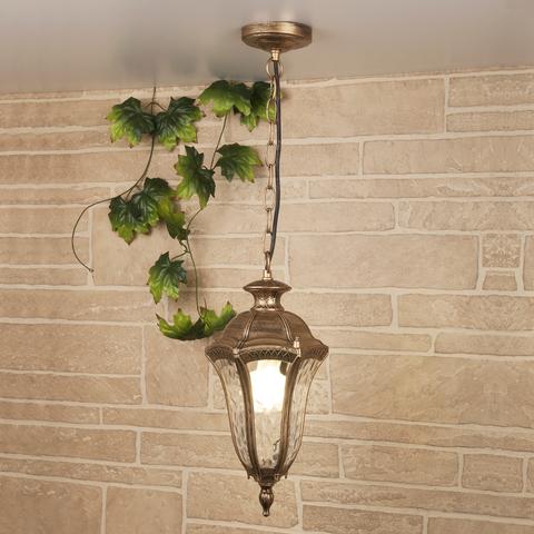 Draco H черное золото уличный подвесной светильник IP44 GL 1010H