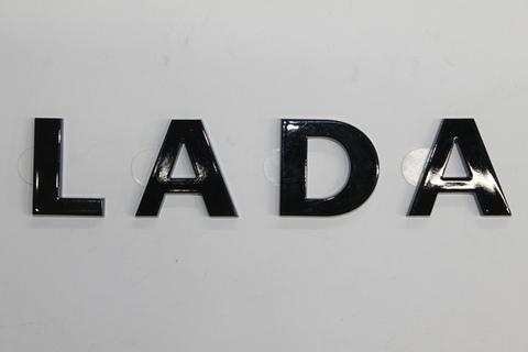 Шильдик LADA черный лак