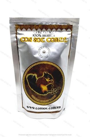 Вьетнамский молотый кофе Белочка, Con Soc Hazelnut, арабика, с ароматом лесного ореха, 100-500 гр.